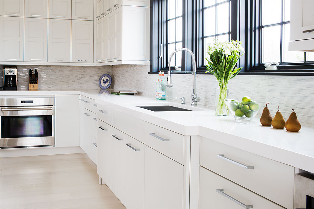 Greenfield Kitchen Cabinets Part - 15: Full Access, Augusta A, Paint Grade, Decorators White By Benjamin Moore®  Base Cabinets: Full Access, Farmington, Paint Grade, Decorators White By  Benjamin ...