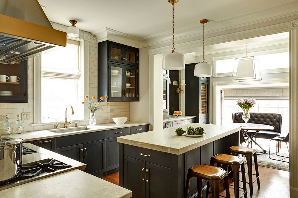 Ordinaire Beaded Inset, Augusta A, Paint Grade, Inkwell By Sherwin Williams® Base  Cabinets And Island: Full Access, Augusta A, Paint Grade, Inkwell By  Sherwin ...